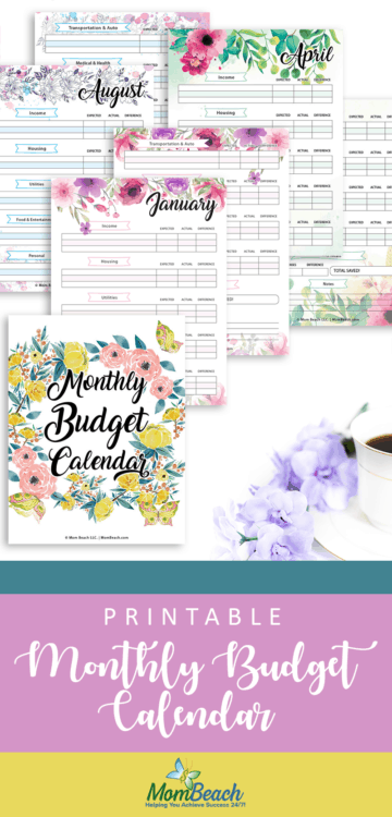 This limited time free printable budgeting monthly calendar is sure to save you money each month and budget your finances. You can put this free printable in a binder or staple it together when you print it out. Save money and budget your money with this free printable budget binder. #freeprintable #freeprintablebudgetplanner #freeprintablebudgetsheet #freeprintablebudgetworksheet #freeprintable budgetworkbook #freeprintablebudgeting #freeprintables