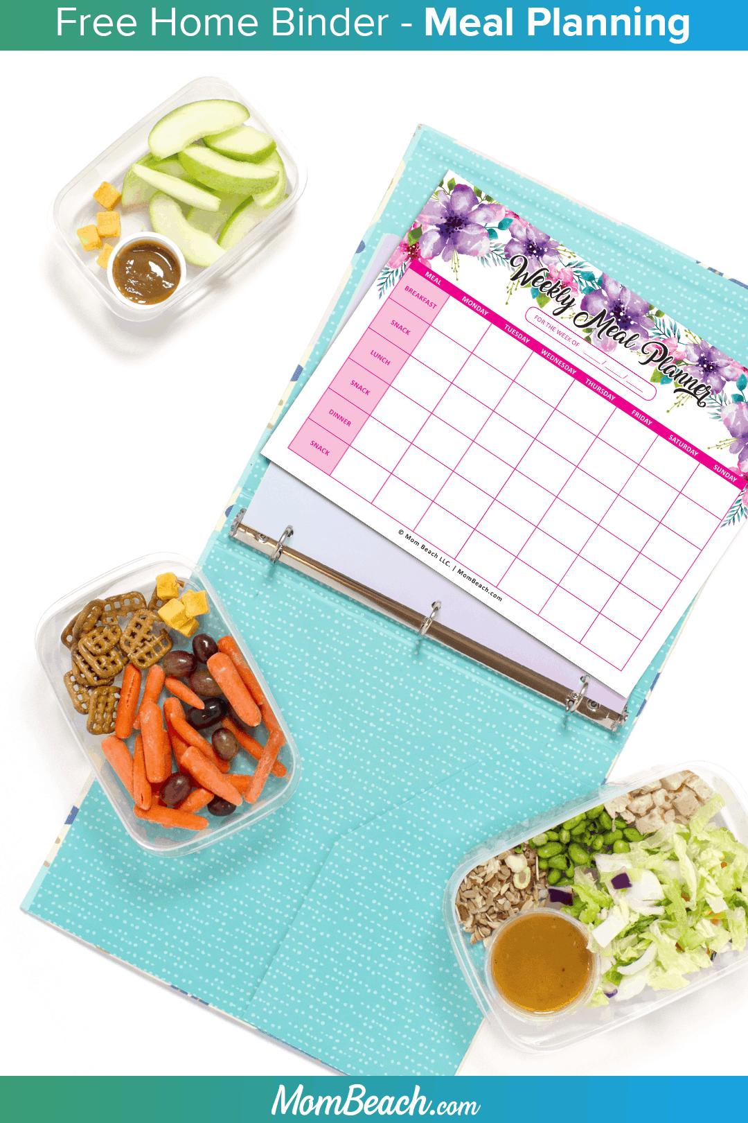 free meal planning worksheet