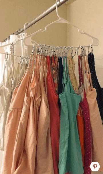 closet organizing hack