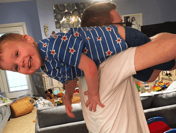 fireman carry toddler