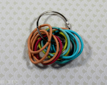 hair tie organization