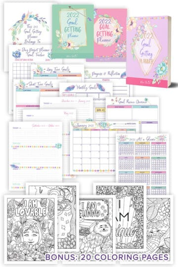 This is a mockup image of the Goal Planner that Mom Beach sells in her shop.