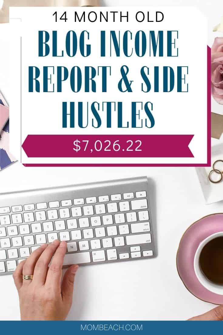 In this 14 month old blog income report and side hustles, I share the income I have made. Find out how I made $7k from side hustling. I'm a mom with a full time job and I like to side hustle by dropshipping, blogging, and more to bring in extra income for my family. #blogincomereport #blogging #blogging101 #incomereport #dropshipping #dropship #blog #startablog #bloggingforbeginners #momblog