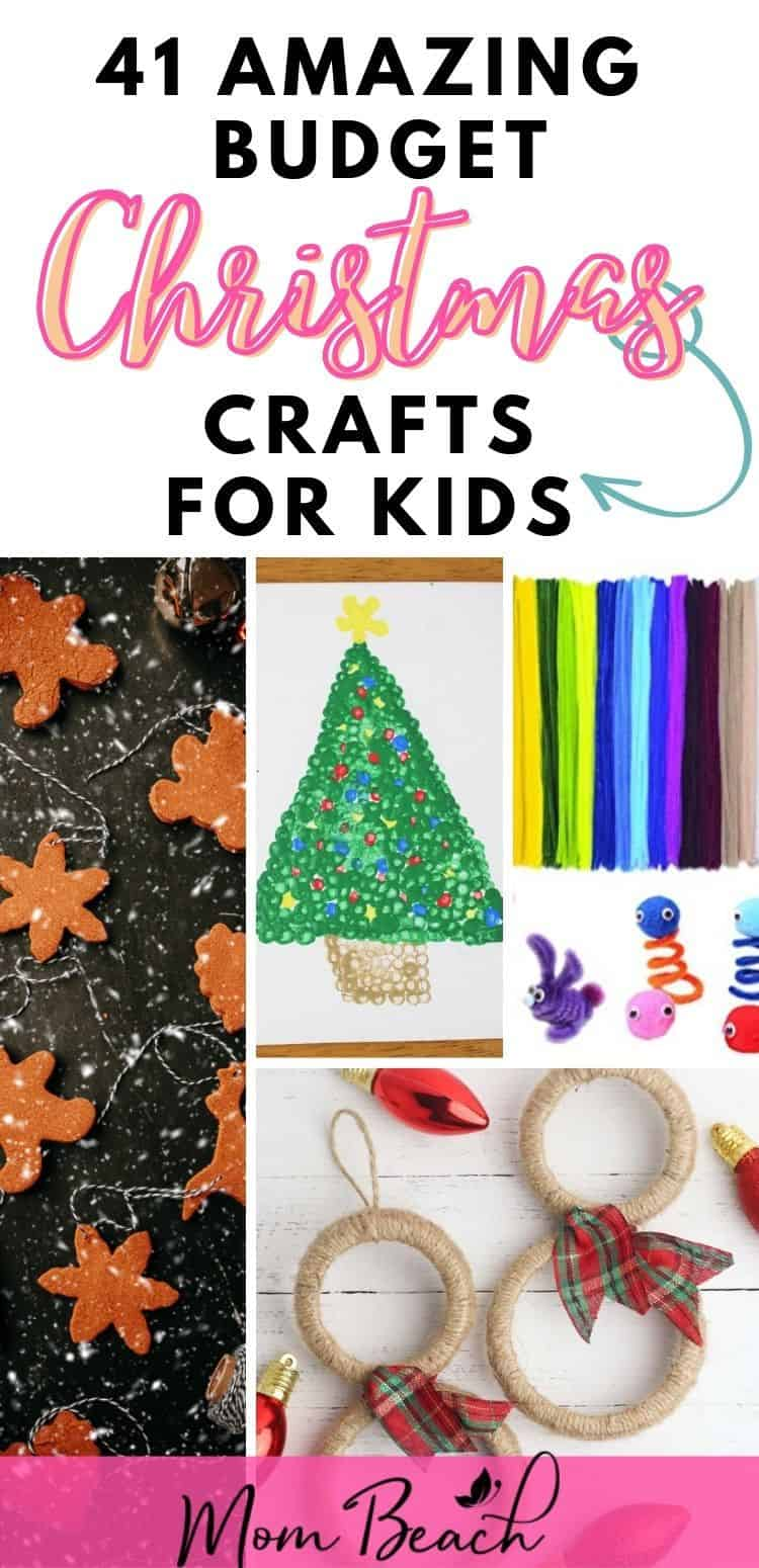 Your kid will have a BLAST making these AMAZING Budget Christmas crafts for kids. Many Christmas crafts in this round-up are made with supplies from the dollar store and are recycled. Save money and still have fun by making these budget crafts if you are low on money for the holidays. Kids, toddlers, teens, and preschoolers will enjoy making these low cost Christmas crafts. Have a very Merry Christmas and a Happy New Year!