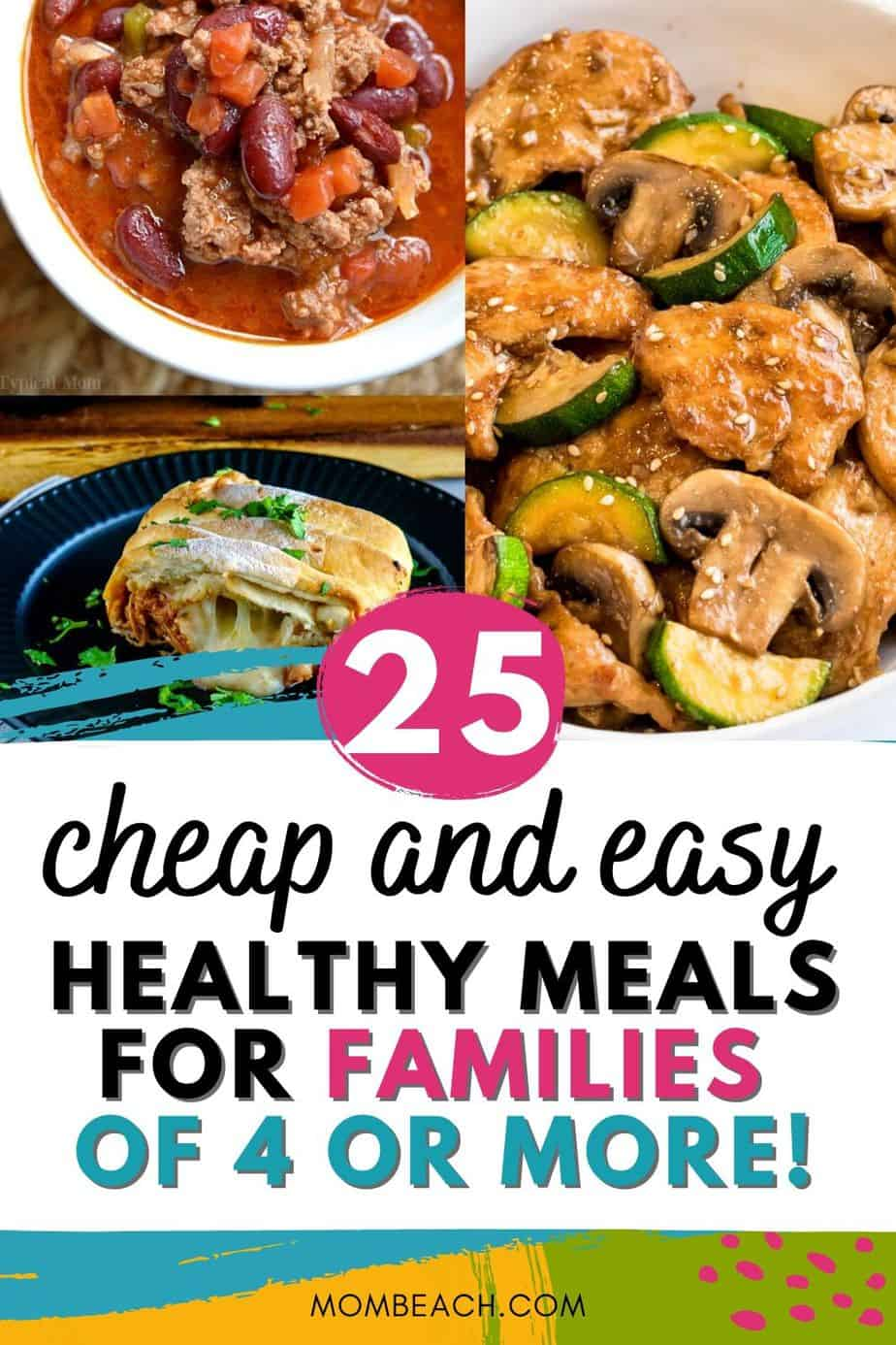These 25 cheap and easy healthy meals for families are great for being on a budget. Lower your grocery budget and start clean eating with these dinners. It is so easy eat healthy and fresh instead of eating out. #cheapeasyhealthymeals #familycheapmeals #budgetmeals #cheapeasymeals #cheapeasyrecipes #cleaneating #healthyrecipes