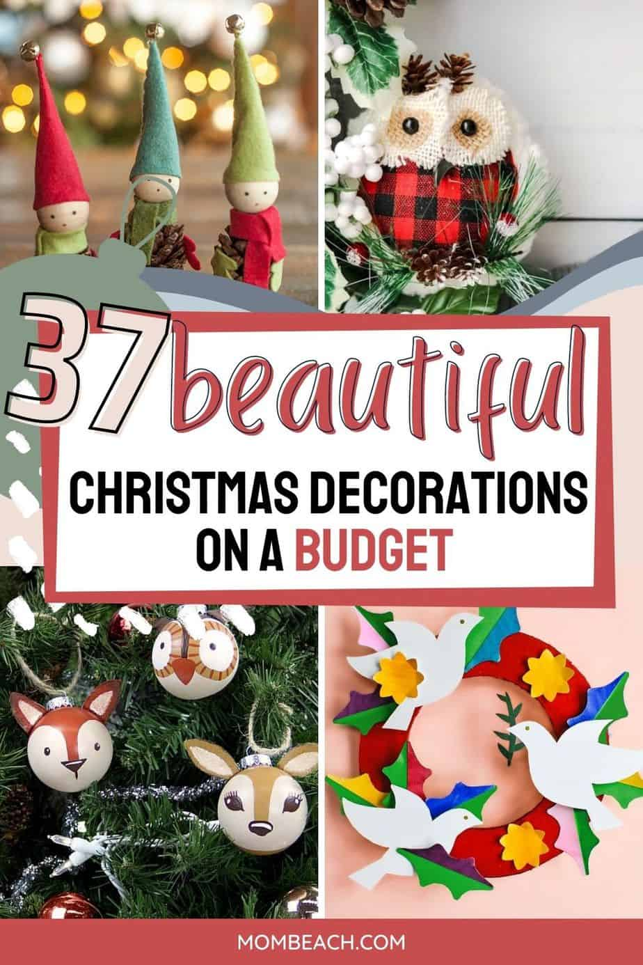 You won't believe how amazing these Christmas holiday decorations are that you can DIY! Most use supplies found at the dollar store! Save money by DIY this Christmas. No need to spend lots of money Christmas holiday decorations. Many of the decorations are for kids and for home. These DIY decorations are so easy and fun to make! You could even sell them to make money on Etsy.
