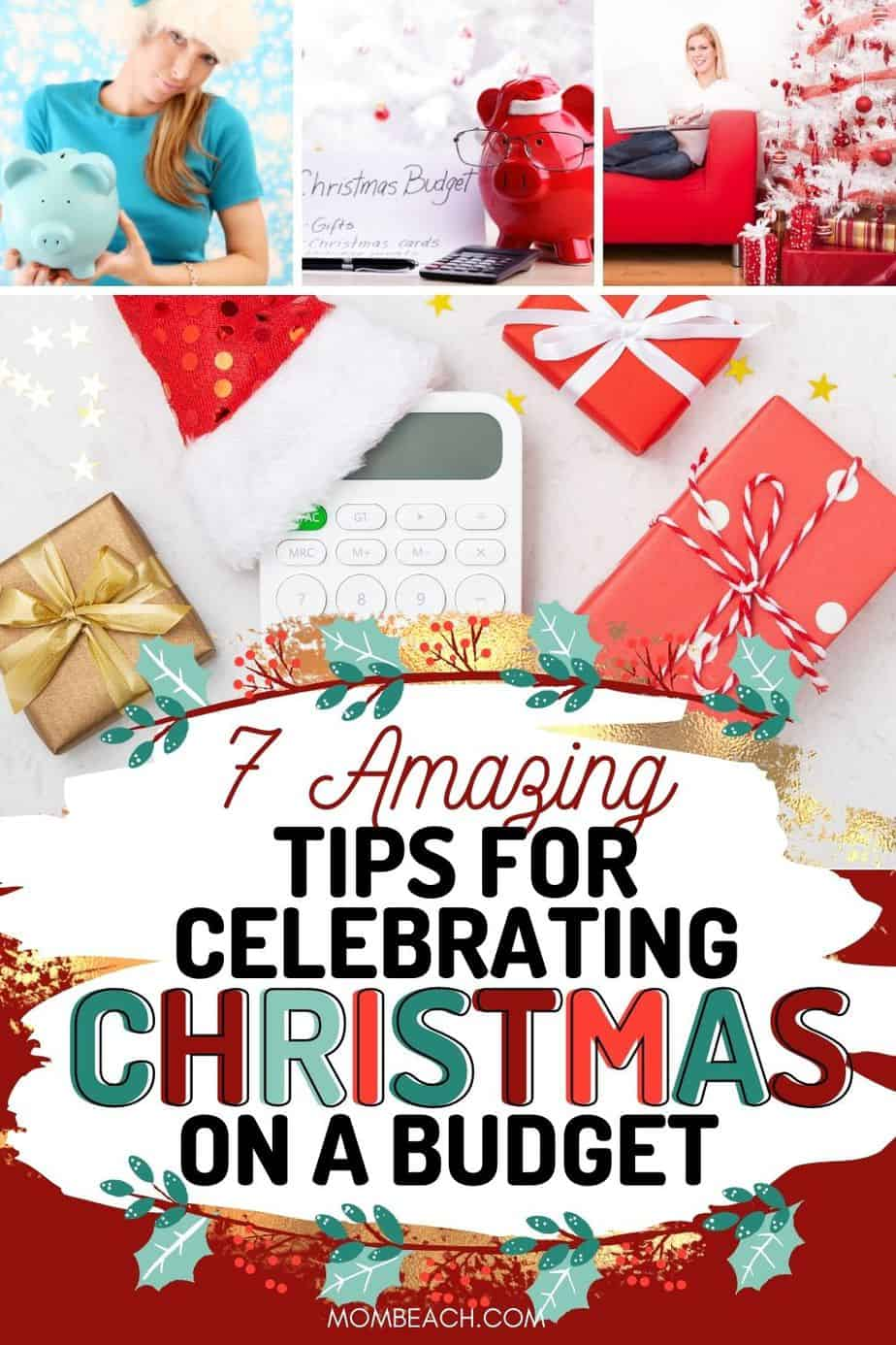 DON'T GET INTO DEBT COMES NEW YEARS! Start budgeting for Christmas now. With this guide, I share 7 amazing tips to help you budget for the Christmas holiday. Start Christmas on a budget for gifts, decorations, food, and more. Your kids can still have a great Christmas on a shoestring budget. Live frugally and still have a fun Christmas that is memorable for years to come. You don't have to get into massive debt in order to have a happy holiday. #christmasonabudget #christmasonabudgetgifts