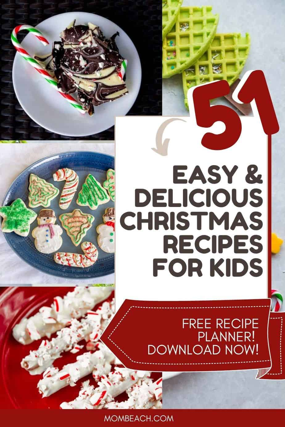 You won't believe how much fun kids will have when helping you to make these festive Christmas holiday recipes. They are simple and easy to make. Some of them are healthy and easy no bake or cook too. They are quick recipes ideas for families to make at home. There are dinners, breakfasts, desserts, and appetizers.