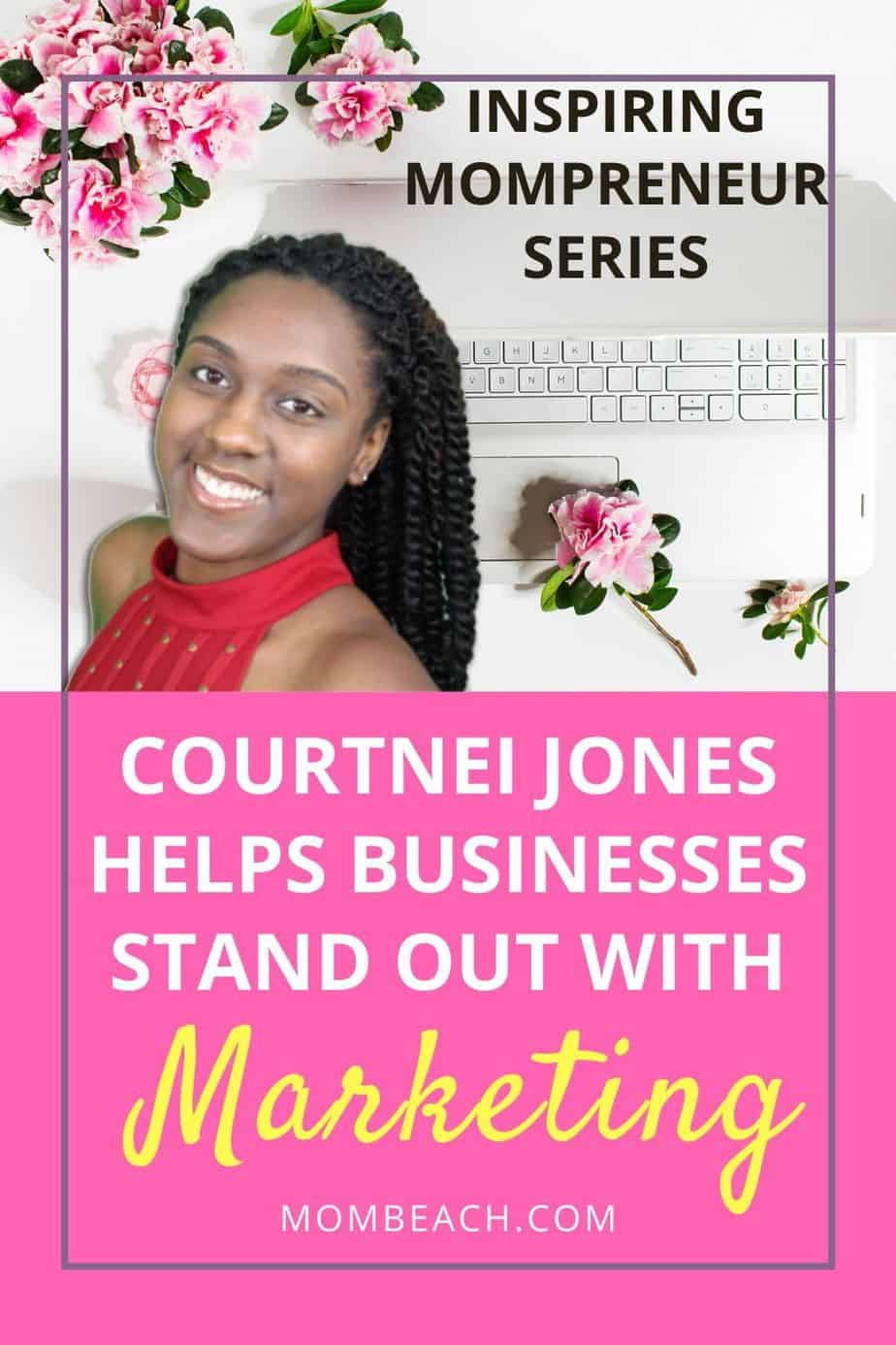 Courtnei Jones is our July Inspiring Mompreneur! Courtnei runs Conversions By Courtnei, a marketing business, and is a mom to a 2 year old boy. She is sure to inspire you! #inspiringmompreneur #conversionsbycourtnei #courtneijones #marketing #marketingbusiness