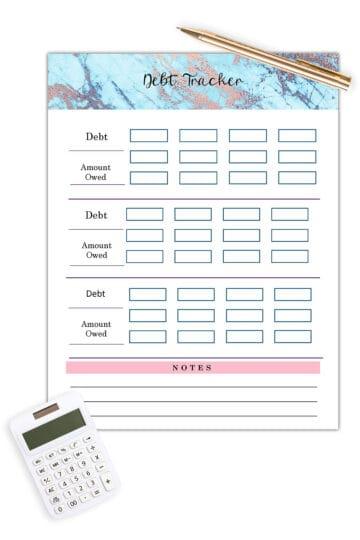 free printable budget planner