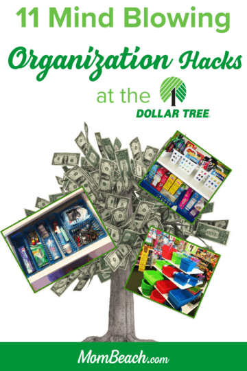 These Dollar Tree organization hacks are perfect for the kitchen, bathroom, bedroom, closet, pantry, kids are more! This is a 100% original content post. Get your home organized and save money today. #dollartreeorganization #dollartreeorganizationideas #organizationideas #kitchenorganization #bathroomorganization #bedroomorganization #closetorganization #pantryorganization