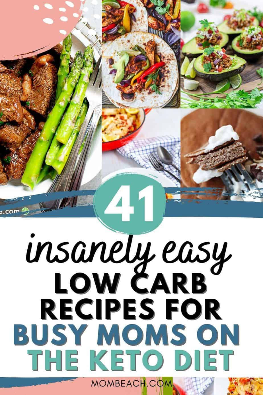 You won't believe how insanely easy these low carb recipes for dinner are! We have chicken, beef, crockpot, Instapot, and more recipes. Some include videos as well so you can see how to prepare the meals. Each of these low carb meals is perfect for a mom on the keto diet who is too busy to cook. #lowcarbrecipes #lowcarbmeals #lowcarbrecipesfordinner #easylowcarbrecipes #easylowcarbdinnerrecipes #easylowcarbmeals