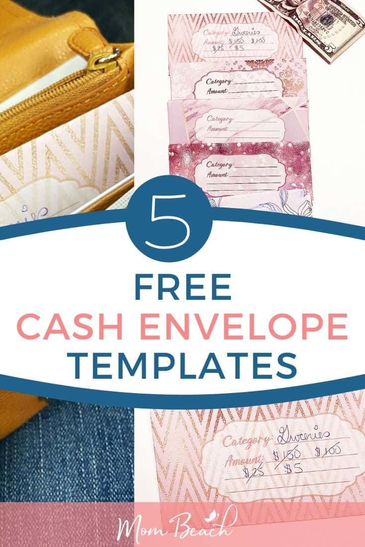 You won't believe how easy the cash envelope system is with these 5 free cash envelope templates. DIY cash envelopes are great to print out. These free printable cash envelope templates make cash envelope budgeting quick and easy! You simple put categories on the cash envelopes and place them in your wallet. This tutorial teaches you how to make cash envelope templates that you print out yourself. They are cute and free for your budget! #freecashenvelopetemplates #cashenvelopeprintables