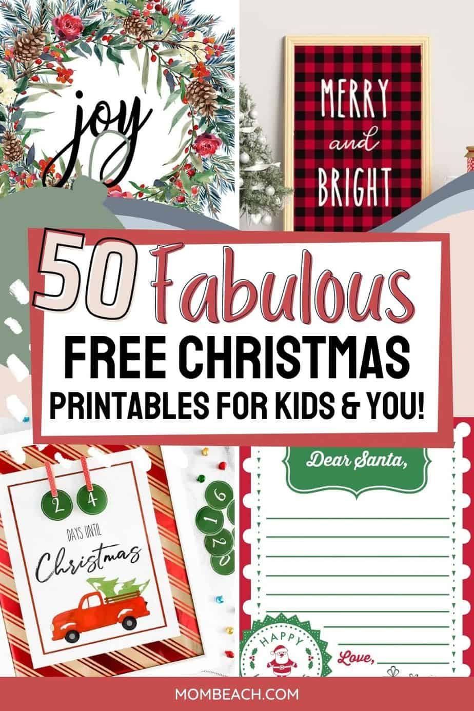 You won't believe how FABULOUS these 100% FREE Christmas printables for kids and you are! There are home decor Christmas printables, games, puzzles, tags, to frame, vintage, coloring sheets, Dear Santa lists, and MORE! Enjoy these free to print out on your home printer at home. Save money by using these free printables for decorating your home and keeping your kids entertained.
