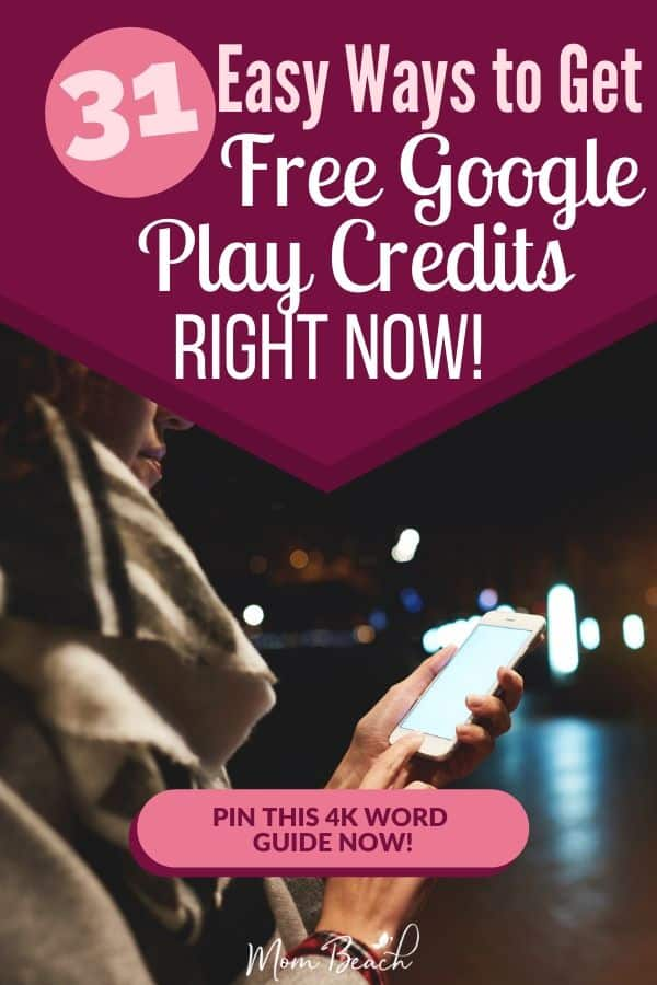 You won't believe how easy it is to get get free Google Play Credits fast with these 31 ways. You don't have to spend money on Google Play Credits, but can get them for free with ease. Learn more by clicking on this pin! #freegoogleplaycredits #freeplaycredits #freegoogleplaymoney #freegiftcards #googleplay #googleplaycredits