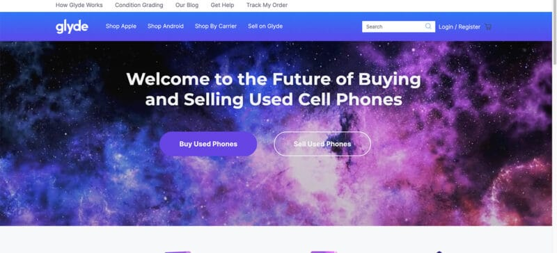 Glyde site best place to buy used phones