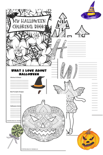Stay At Home Mom Jobs Ideas: Limited Time Free Printable: Halloween Coloring Book