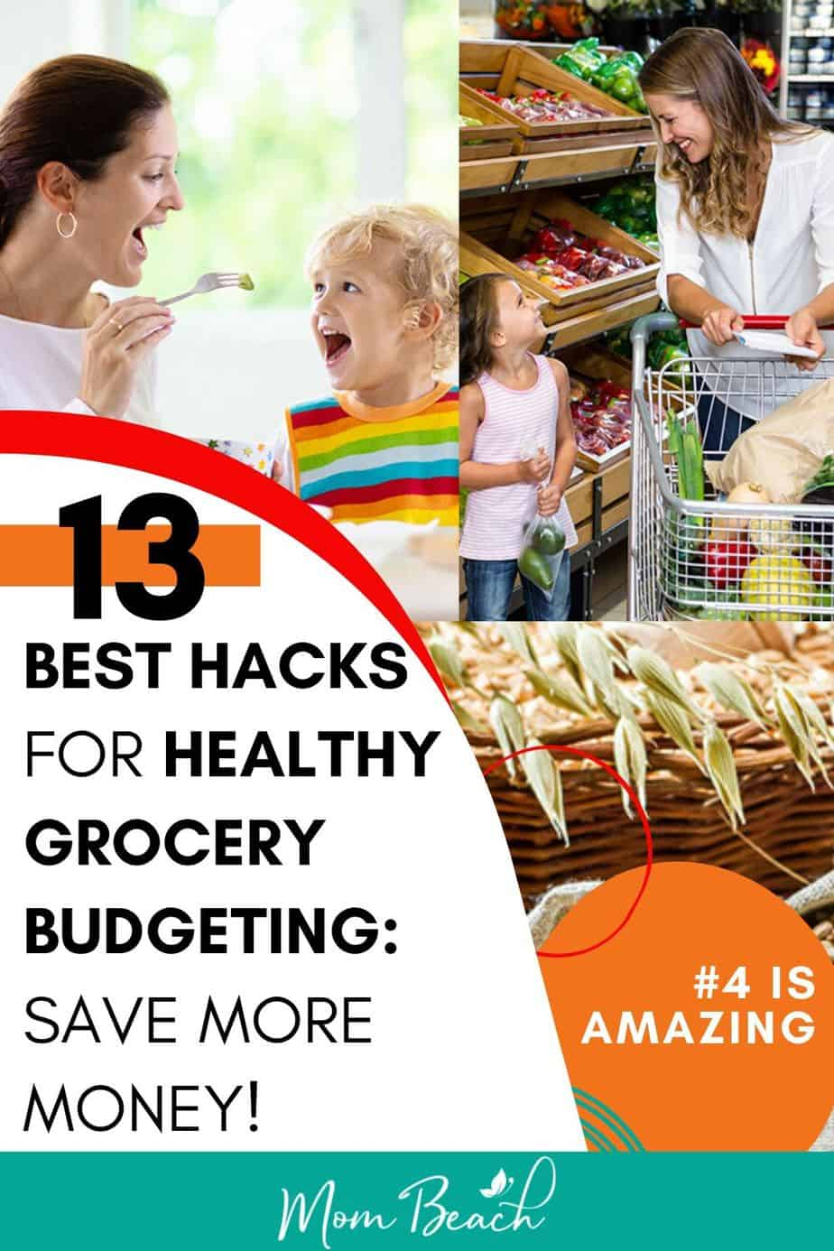 You won't believe how easy it is to eat healthy on a budget with these healthy grocery budgeting hacks. You can prepare easy dinners recipes for the family for cheap. There are several ways to save money on groceries such as use money saving apps, make a shopping list and more. Save money on your groceries with these money saving tips. #healthygrocerybudgeting #grocerybudget #healthygrocerybudget #budgeting #moneysavingtips #savemoney