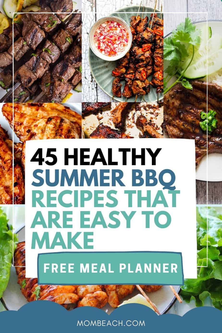 You won't believe how amazing these healthy Summer BBQ recipes taste! They are perfect for a crowd and for the family. We have meat, chicken, lamb, shrimp, pork, and vegan recipes rounded up just for you. Get these recipes created hot off the grill at your next cookout. There are keto and vegan recipes that are easy to make for dinners. #healthysummerbbqrecipes #summerrecipes #summerBBQrecipes #bbqrecipes #summerBBQrecipesforacrowd