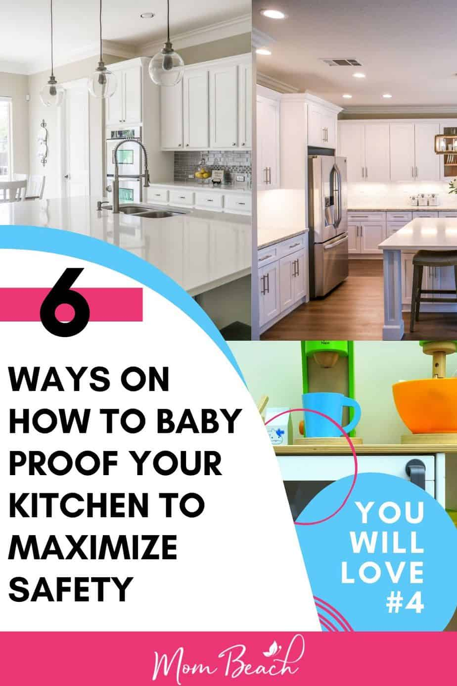 Is your house baby-proofed? These kitchen baby proofing ideas and hacks are great for childproofing your home. You can DIY and save money. You should baby proof to maximize safety and avoid accidents. You don't want to miss this article because it could help save your child from accidents. #babyproofingideas #babyproofinghacks #babyproofingDIY #babyproofingkitchen #kitchenbabyproofing #DIYbabyproofing