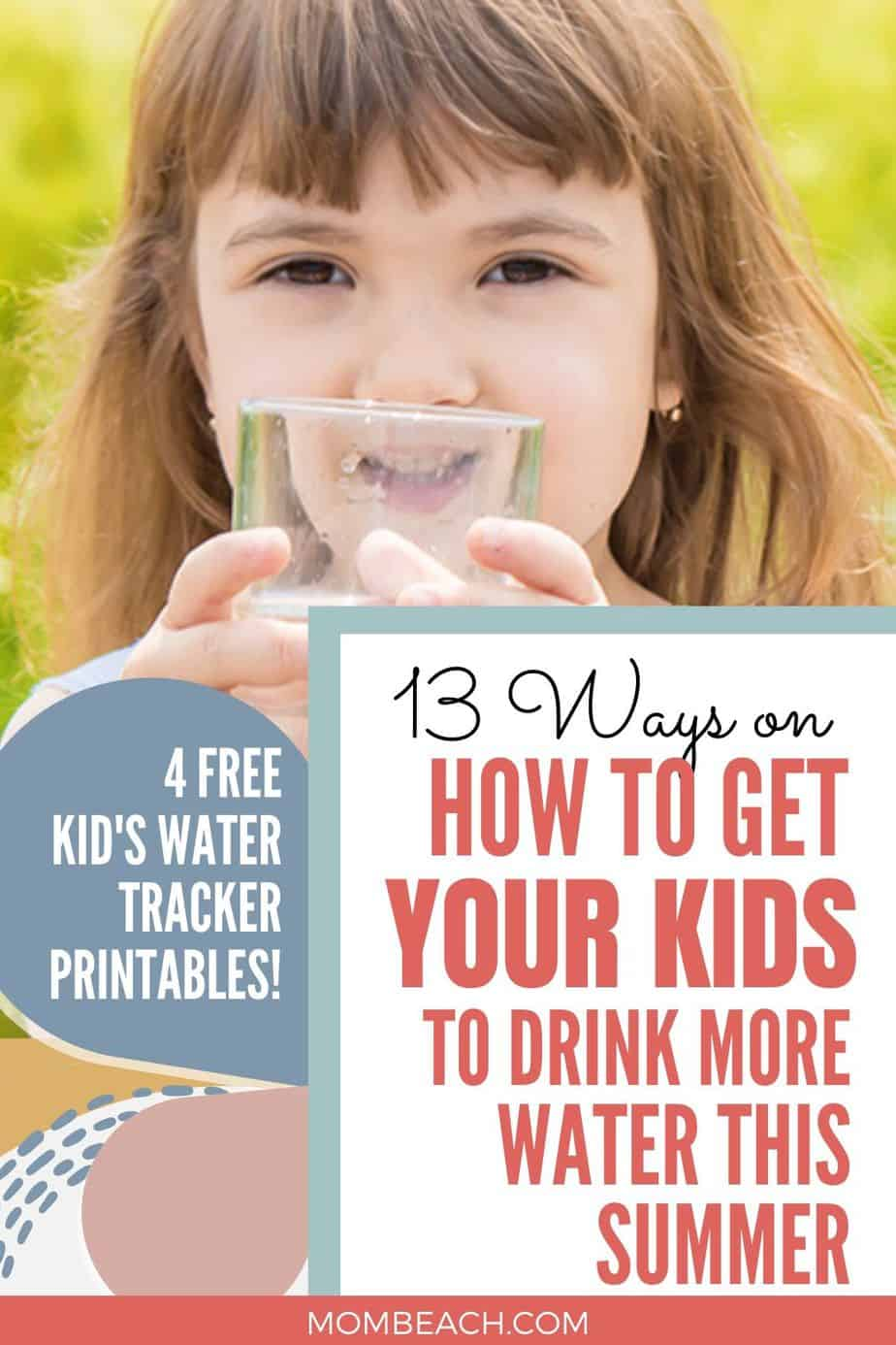 Getting kids to drink more water can be difficult. We share with you 13 tips on getting your child to drink more water so they won't be dehydrated. It is important for kids to get enough water! #howtogetkidstodrinkmorewater #kidsdrinkmorewater #tipsformoms #tipstodrinkmorewater #morewater
