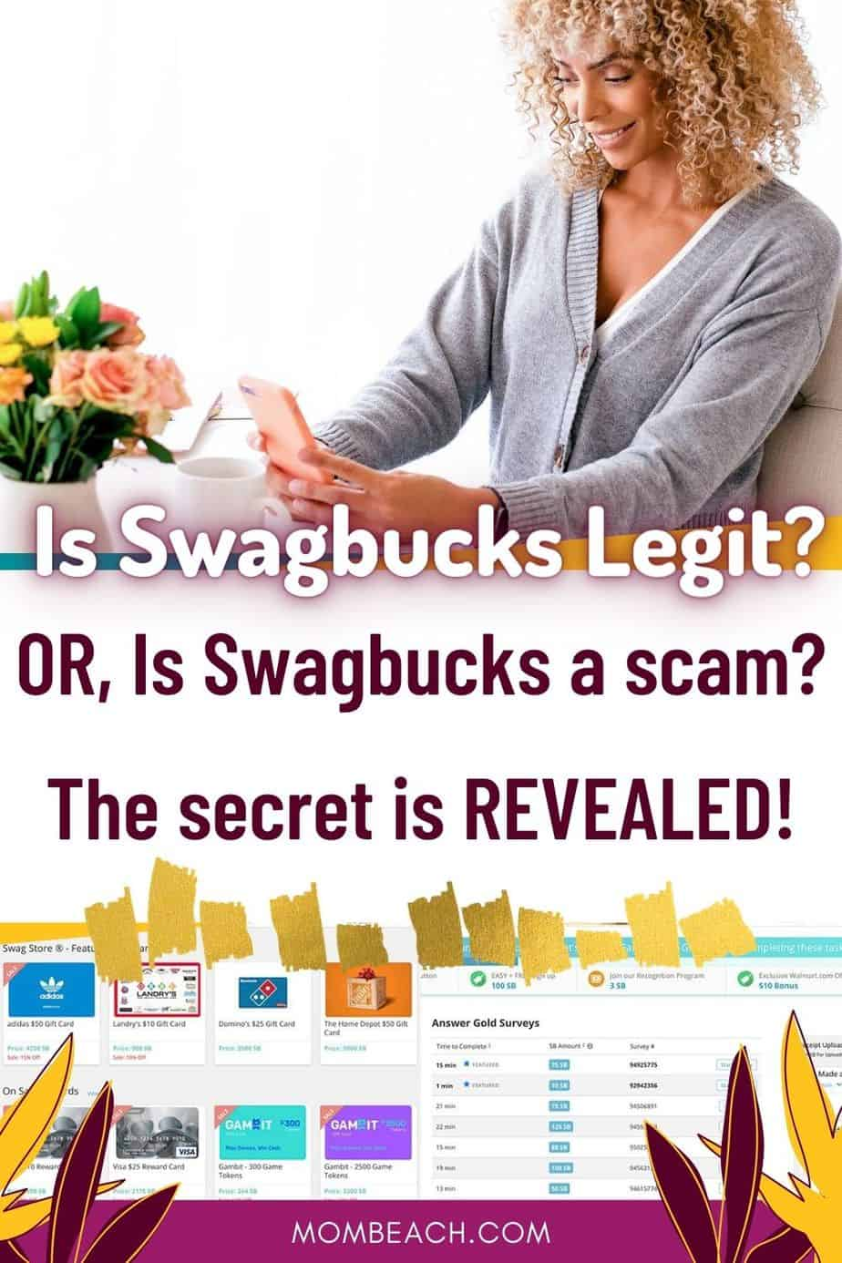 Is Swagbucks legit or a scam? We discuss this in today's awesome post in detail. Swagbucks is for beginners and there are lots of hacks to get free gift cards. We share tips on how to use Swagbucks and how to make money fast. #isswagbuckslegit #swagbucks #paidsurveys #swagbuckstips #howtomakemoneyonswagbucks
