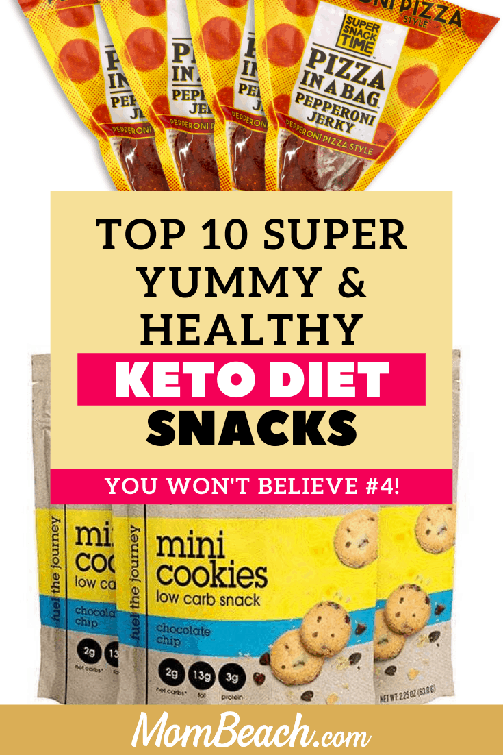 These top 10 easy keto diet snacks are available to buy in the store. Some are sweet and savory! You can take them with you on the go and they are all store bought. These keto snack ideas are low carb and great ideas for beginners to try the keto diet. Kids can eat them too! Try these keto diet snacks now! #ketodietsnacks #onthegoketodietsnacks #ketodiet #storeboughtketodietsnacks #ketodietforbeginners #ketogenicdiet #ketosnacks #lowcarbsnacks #lowcarbketodietsnacks
