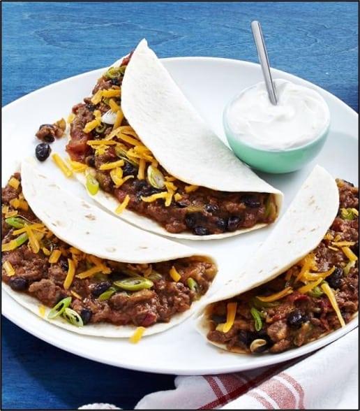 cheesy tacos