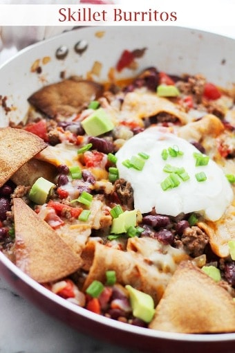 skillet burritos cheap meal ideas