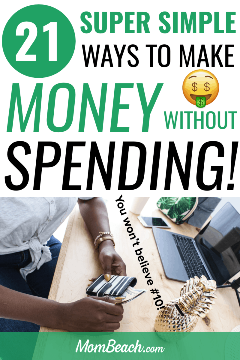You won't believe how easy #10 is to make money without spending one dime! You won't have to invest anything to make money online from home fast. These 21 free ways will help you make money on the side easily. Stay at home moms can use these ways too! #makemoney #makemoneyonline #makemoneyfromhome #makemoneywithoutspending #makemoneywithoutinvestment #makeextracash #earnextramoney