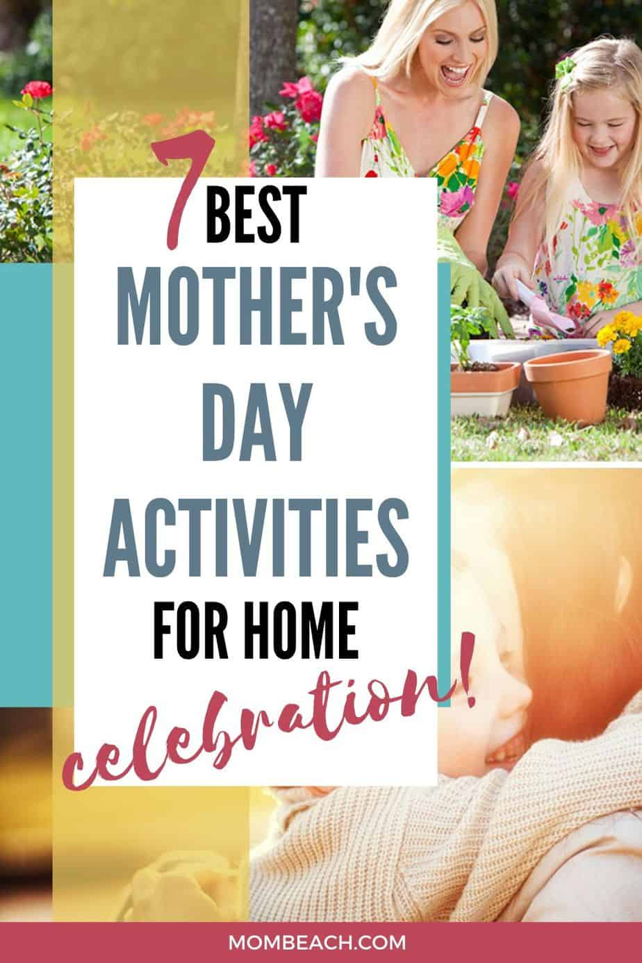You won't believe how fun these Mother's Day activities are for celebrating at home. If you are spending Mother's Day at home, then these activities will bring joy to your day. These Mother's Day activities are fun to go together, for adults, for toddlers, for kids, for preschool, and preschoolers. Have a happy Mother's Day! #mothersdayactivities #mothersdayactivitiestodotogether #mothersdayactivitiesforkids #mothersdayactivitiesathome #mothersdaythingstodoathome