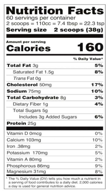 Naked Nutrition Chocolate Whey Protein Powder Review nutrition facts