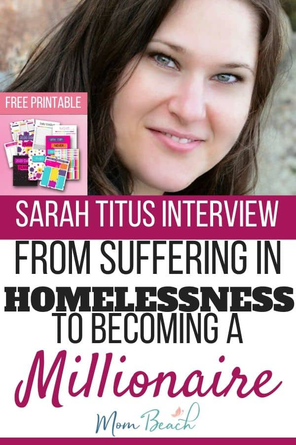 Sarah Titus was a mom who became homeless when her cheating husband left her and her kids. Instead of giving up, Sarah created a printables Shopify store worth millions! In this article, I am fortunate to interview Sarah and review the courses of hers that I have taken! #sarahtitus #mompreneur #shopify #printables #freeprintable #freebie