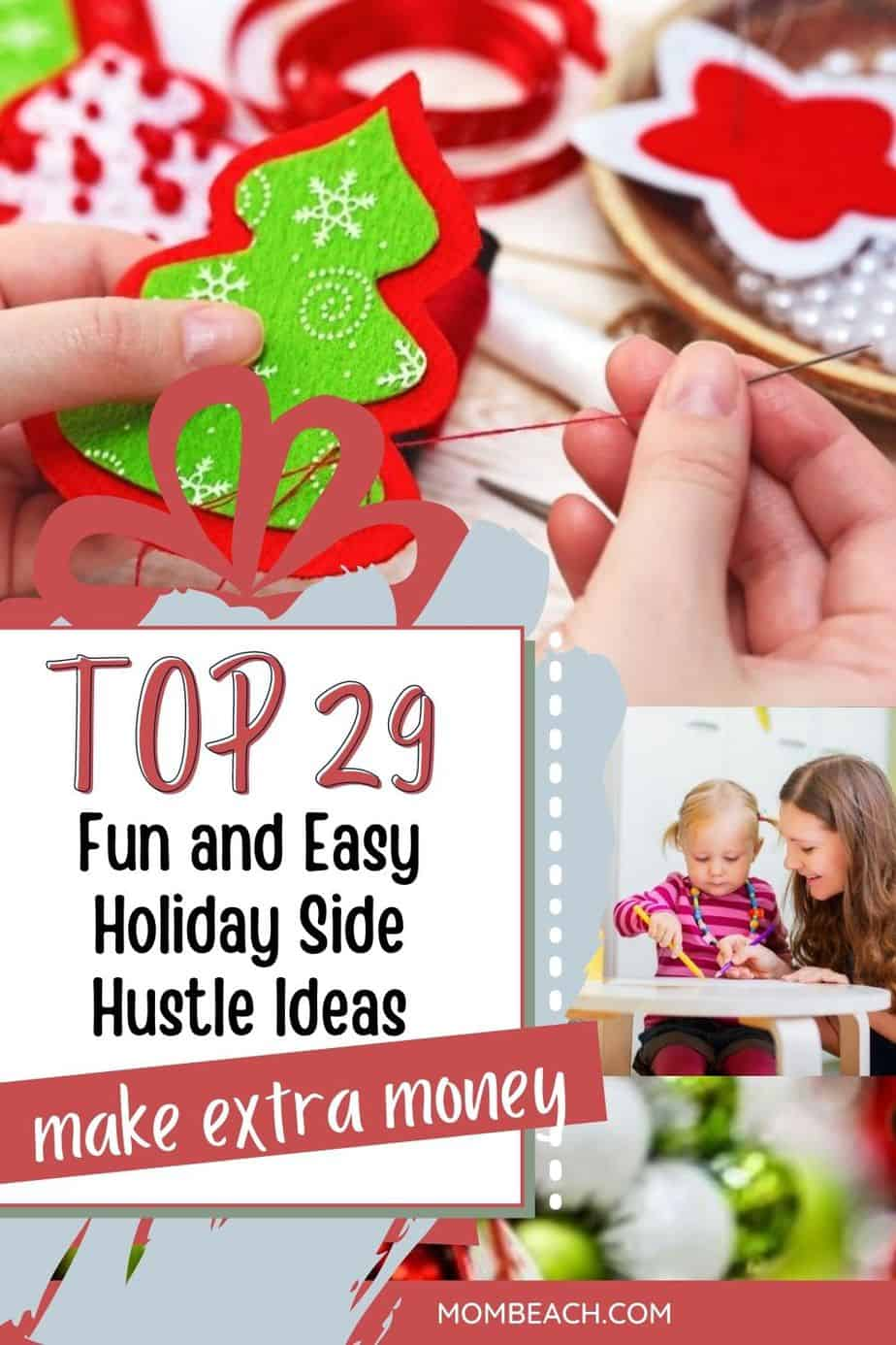 You won't believe how easy and fun it is to make extra money this holiday season with these 29 amazing side hustle ideas. You can avoid going into debt by doing a side hustle to make money. Get more money for Christmas gifts by doing a side hustle today!
