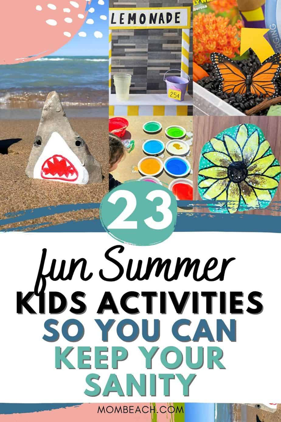 These outdoor and at home kids Summer activities are great for boys and girls. There are easy and fun DIY crafts and learning activities too. There are even water activities and other creative ideas to have fun in the Summer! #summerkidsactivities #outdoorsummerkidsactivities #athomesummerkidsactivities #summerkidscrafts #funsummerkidsactivities