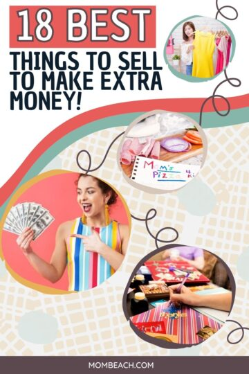 Things to sell to make extra money from home Pinterest pin.