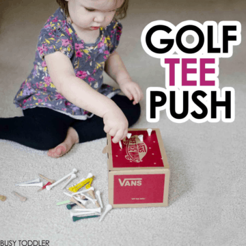 Golf Tee Push: Fine Motor Skills Activity