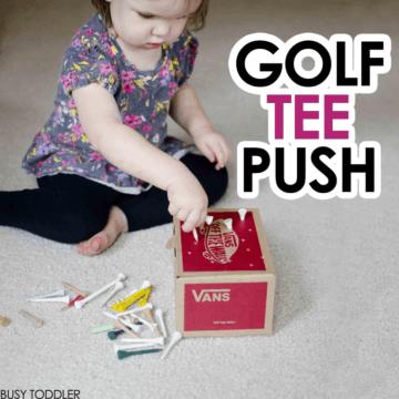 Golf Tee Push: Fine Motor Skills Activity