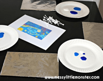 Painting on Foil - An Easy Art Activity