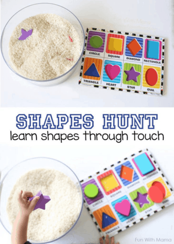 Shapes Activity Hunt Sensory Bin