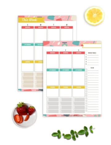 free weekly meal planning worksheets