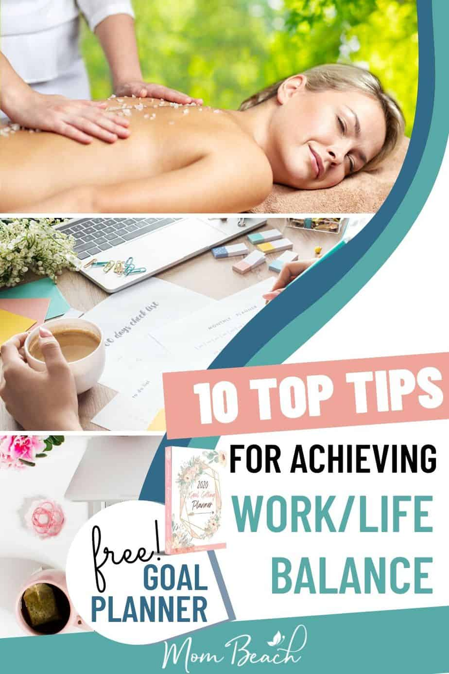 Achieving an awesome work-life balance can be difficult! With these top 10 tips, you can get work life balance easily. There are so many ways women can use these tips and hacks for balance in work and life. Keep your rewarding career and have a wonderful home life too with your children. #worklifebalance #worklifebalancetips #worklifebalancewomen #worklifebalancemoms #mompreneur